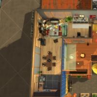 Containers en colocation - vue aérienne de l'étage