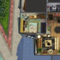 Appartement 404 - vue aérienne de l'appartement