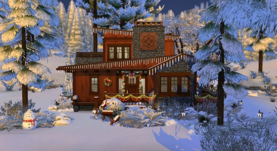 Chalet de Noël - façade avant