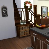Chalet de Noël - l'entrée et la cuisine