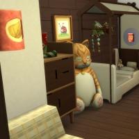Chalet de Noël - la chambre pour enfant et bambin - vue 1