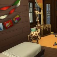 Chalet de Noël - la chambre pour enfant et bambin - vue 2