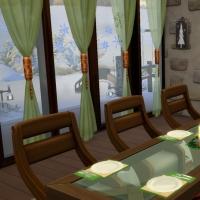 Chalet de Noël - la salle à manger - vue 2
