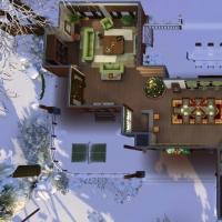 Chalet de Noël - vue aérienne du rez-de-chaussée
