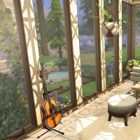 12  sims 4 chalet chaleureux veranda