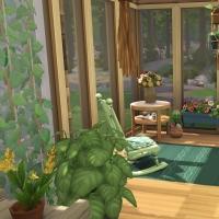 19 sims 4 chalet chaleureux veranda