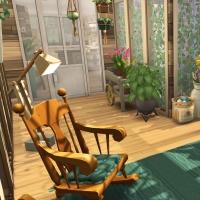 20 sims 4 chalet chaleureux veranda
