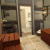 24 sims 4 chalet chaleureux sauna