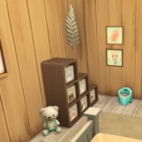 35 sims 4 chalet chaleureux chambre bambin