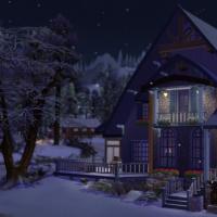 exterieur nuit neige