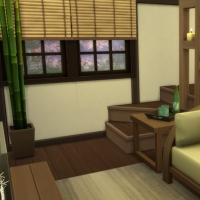 Kyoto - machiya 1 - la chambre parentale - vue 1