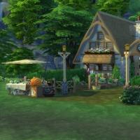 Ce bon vieux cottage - l'habitation et le stand de vente de produits de la ferme
