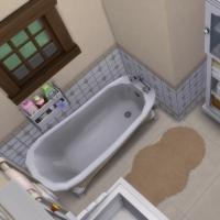 Ce bon vieux cottage - la salle de bain - vue 1