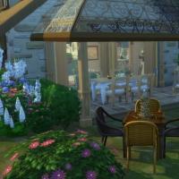 Ce bon vieux cottage - le coin jeu et la terrasse