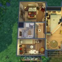 Ce bon vieux cottage - vue aérienne de la maison