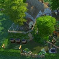 Ce bon vieux cottage - vue générale du jardin et du poulailler