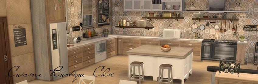 Sims 4 Deco Rustique Cuisine Kitchen Chic Moderne